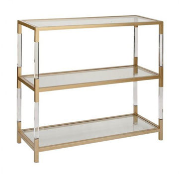 Picture of ACRYLIC AND GOLD OPEN CONSOLE