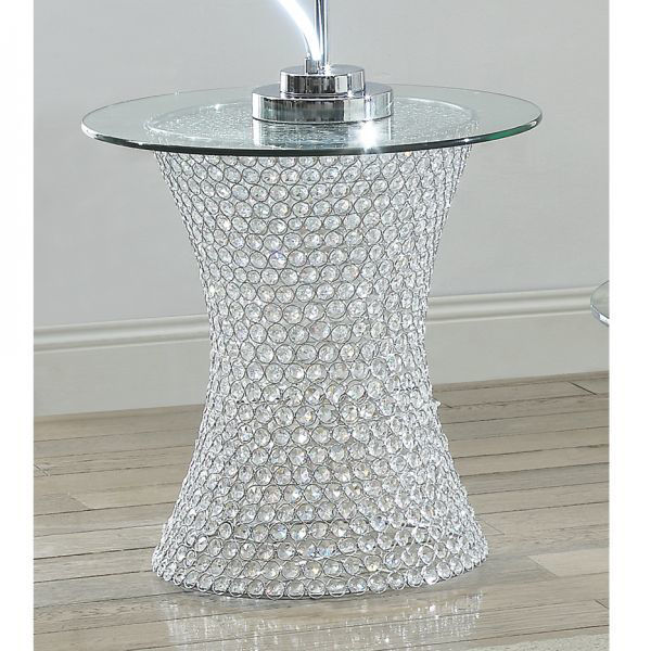 Picture of Crystal End Table with LED Light