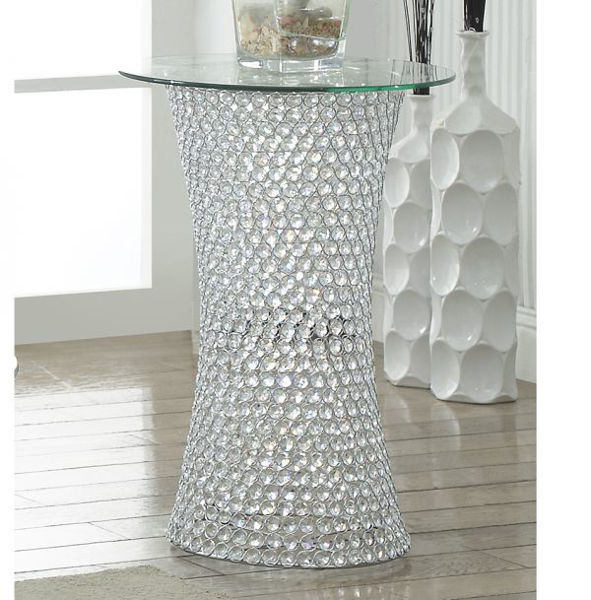 Picture of Crystal Pedestal Table with LED Light