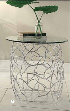 Picture of Alloy Glass Top LED End Table