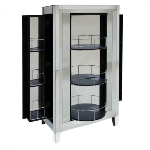 Picture of Lazy Susan Mirrored Bar Cabinet